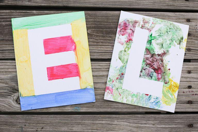Manualidad de letras en canvas