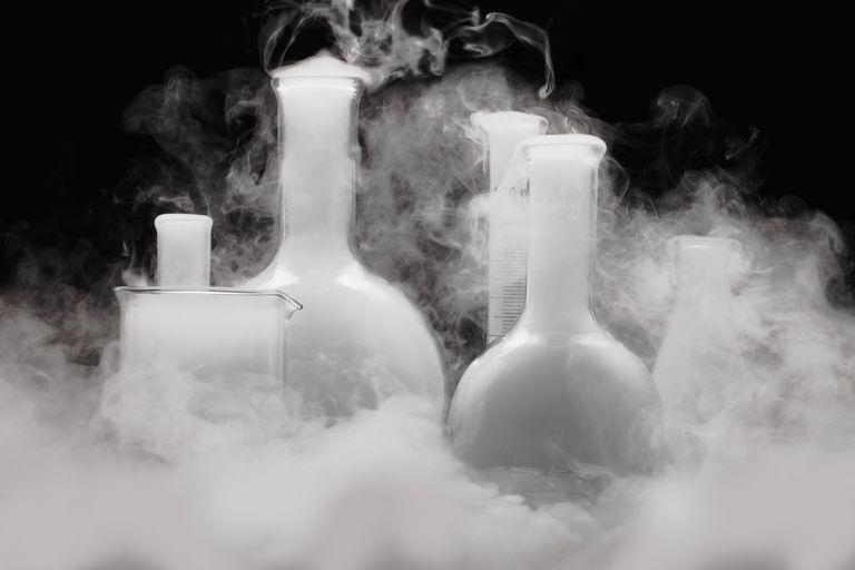 Laboratory glassware with Vapor
