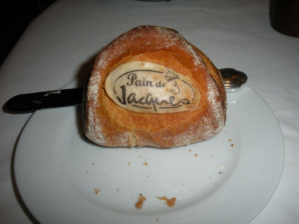 """Monogrammed"" rolls in Jacques Restaurant on the Oceania Cruises' Marina"