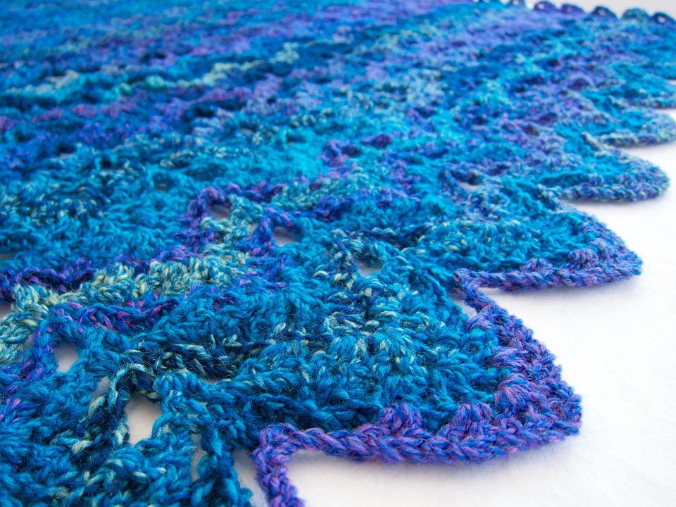 Crochet V stitch pattern