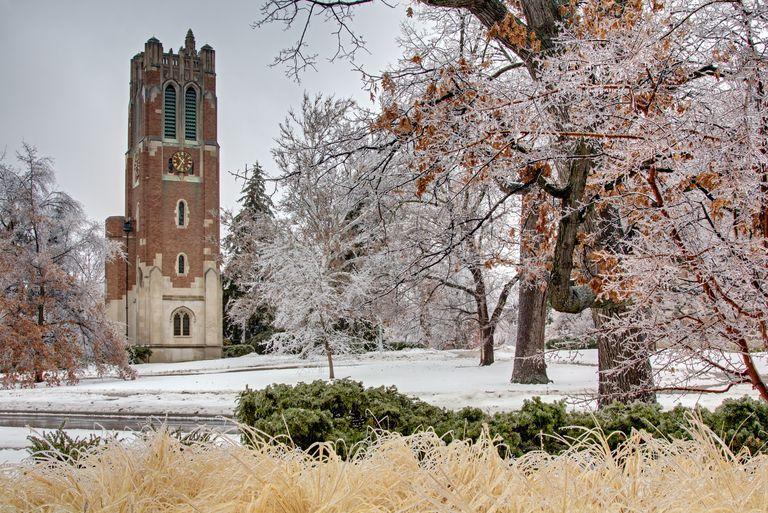 Beaumont Tower Winter Scene