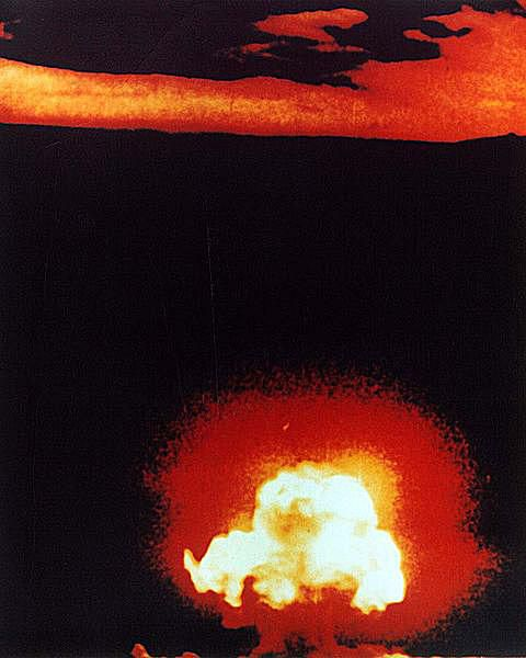 """""""Trinity"""" was the first nuclear test explosion."""