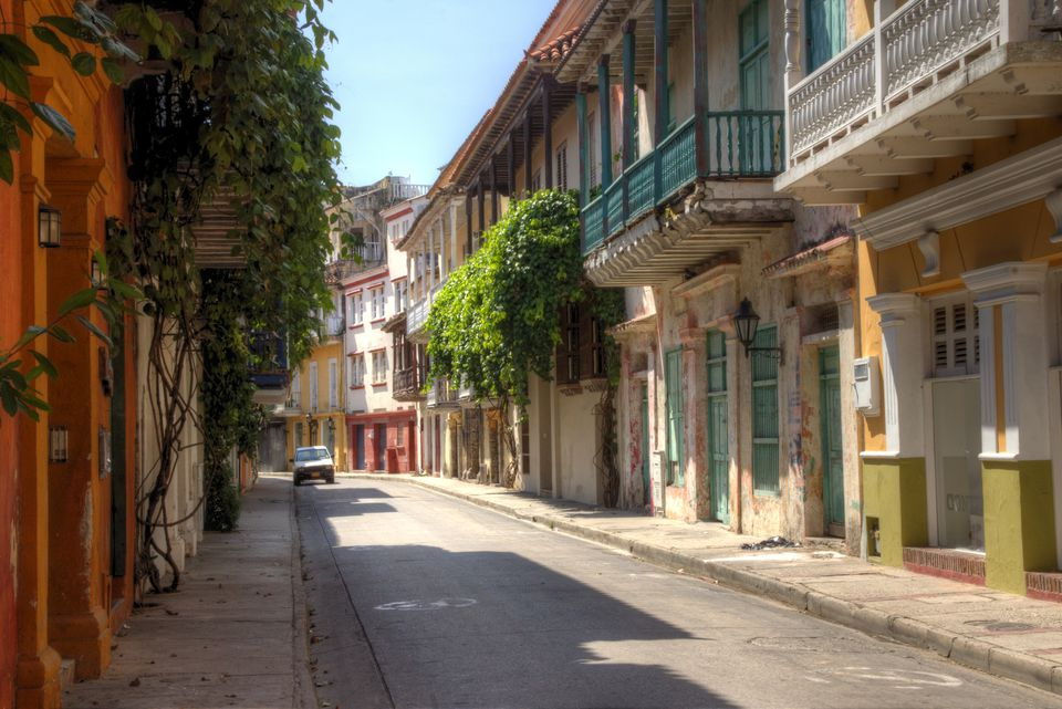 Cartagena old colonial style street