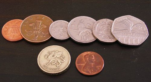 British Coins and US Penny