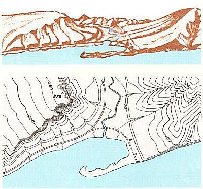 topography and its map