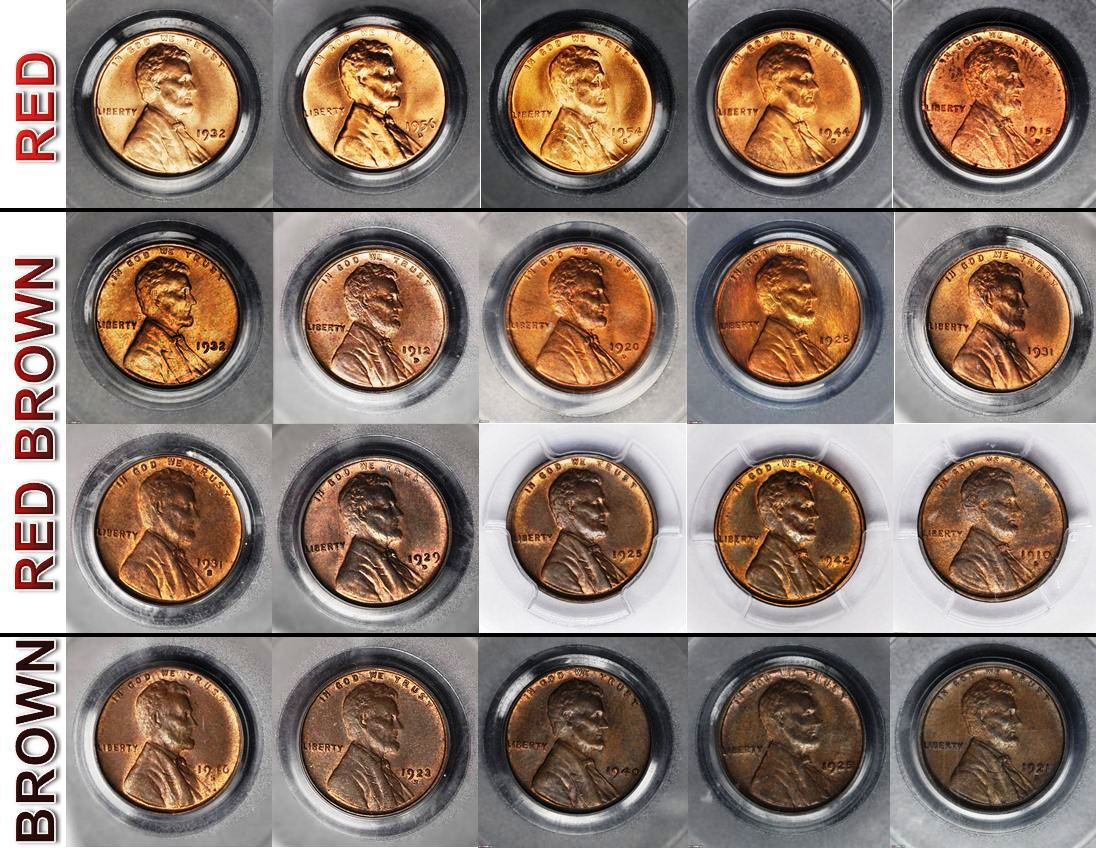 What color is your copper coin grading them nvjuhfo Images