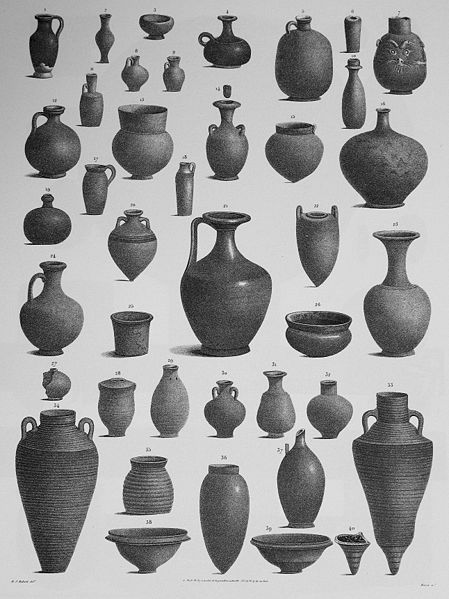 Clay Pots from Egypt from Various Times and Places