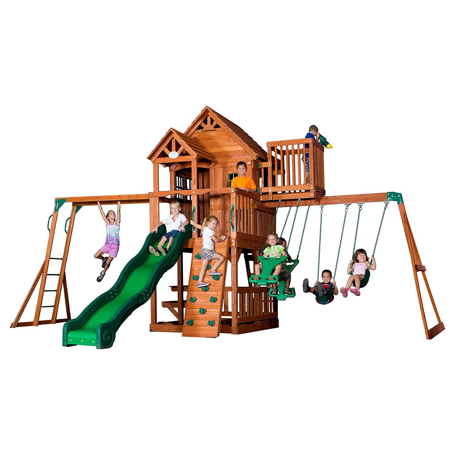 The Best Wooden Swing Sets And Playsets Of - Backyard playground equipment