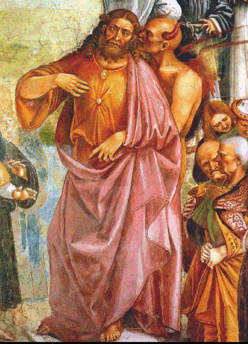 El Anticristo con el Diablo de Luca Signorelli