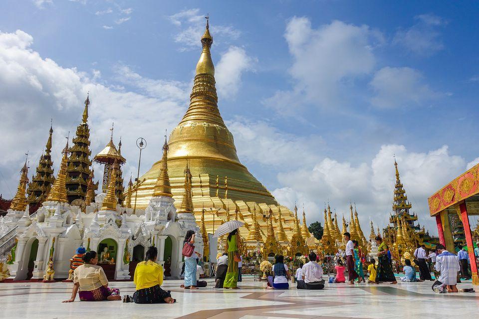 Victory Ground at Shwedagon Pagoda, Yangon, Myanmar