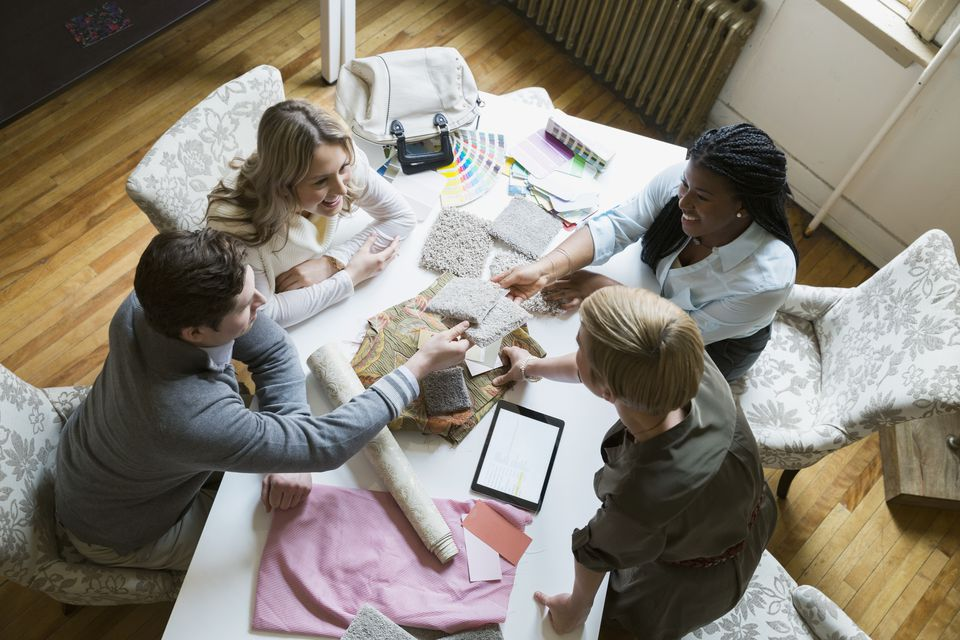 Interior designers and clients