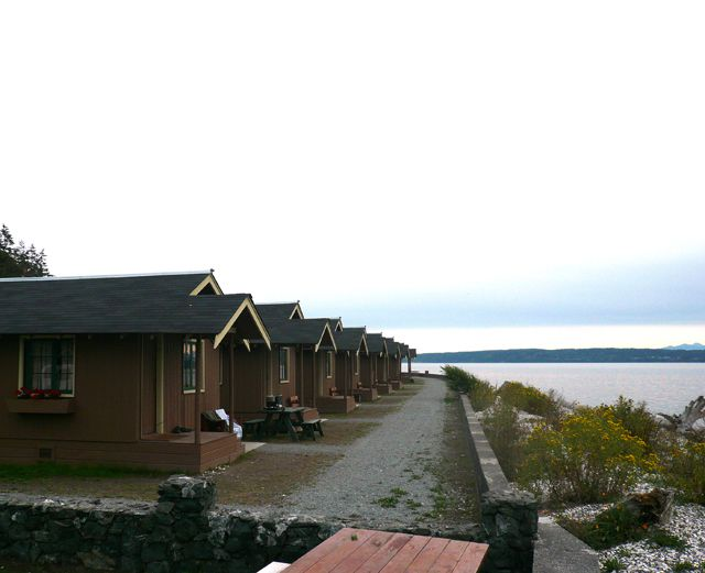 Row of Cabins at Cama Beach State Park