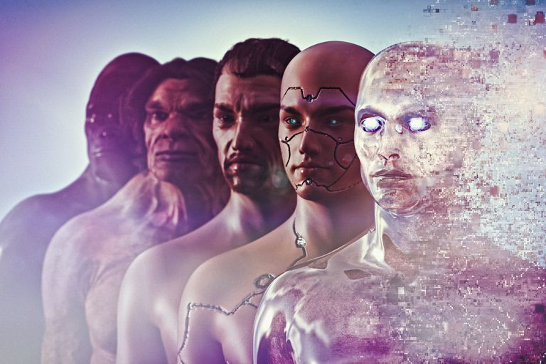 Evolution of human to cyborg