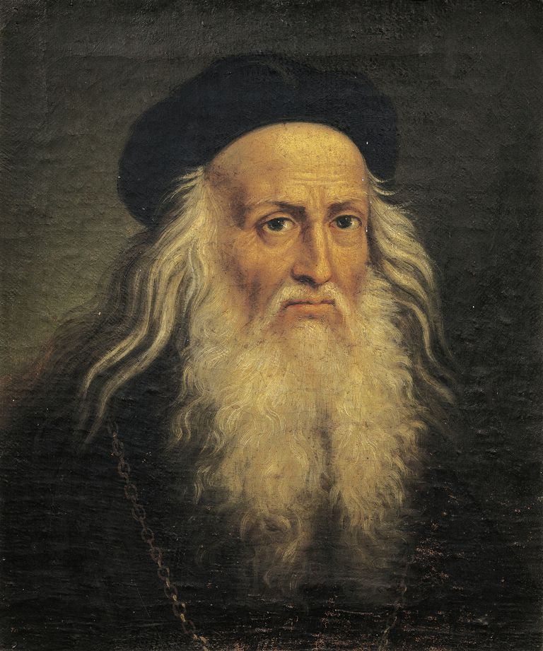 Portrait of Leonardo da Vinci, by Lattanzio Querena (1768-1853)