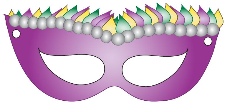 Refreshing image with printable mardi gras masks