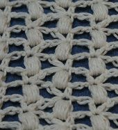 Puff Lace With Half Double Crochet V Stitch