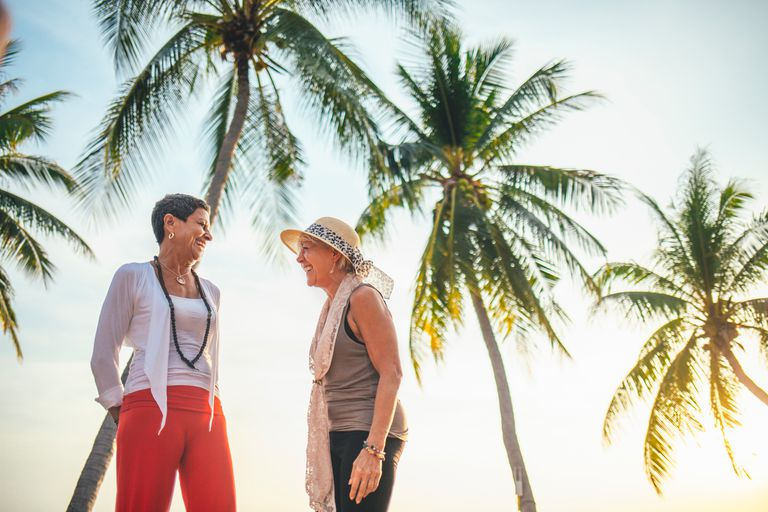Senior women on vacation