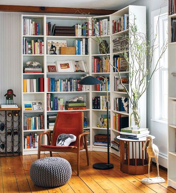 24 decorating solutions for empty corners for B q living room shelves