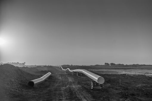 Dakota Access Pipeline being constructed through farmland near Sioux Falls, SD.