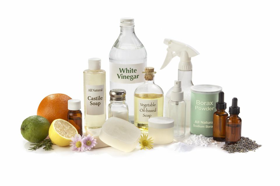 'Some basic ingredients and supplies needed to start making your own eco-friendly and all natural household cleaners, disinfectants and deodorizers.'