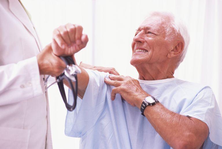 Patient with shoulder pain