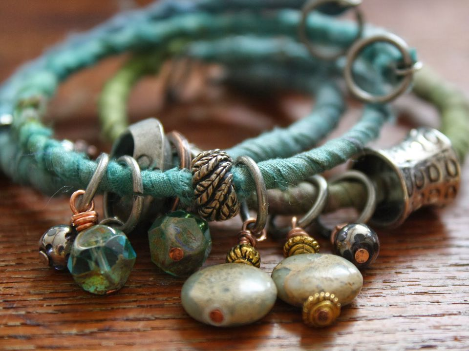 ribbon textile bracelet