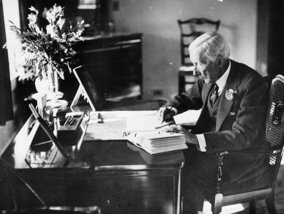 American oil magnate and philanthropist, John Davidson Rockefeller