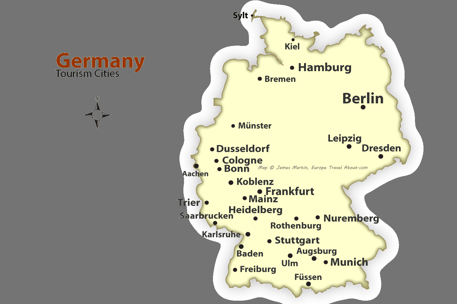 german cities map best places to visit in germany