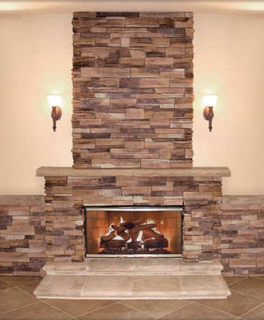 A photo gallery of stone fireplace surrounds that you can build or have a mason build for you.