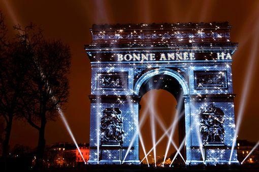 Paris New Year celebration