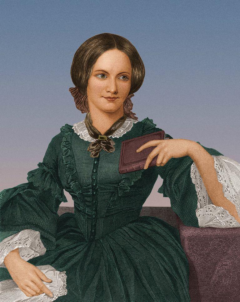 Portrait of English novelist Charlotte Bronte