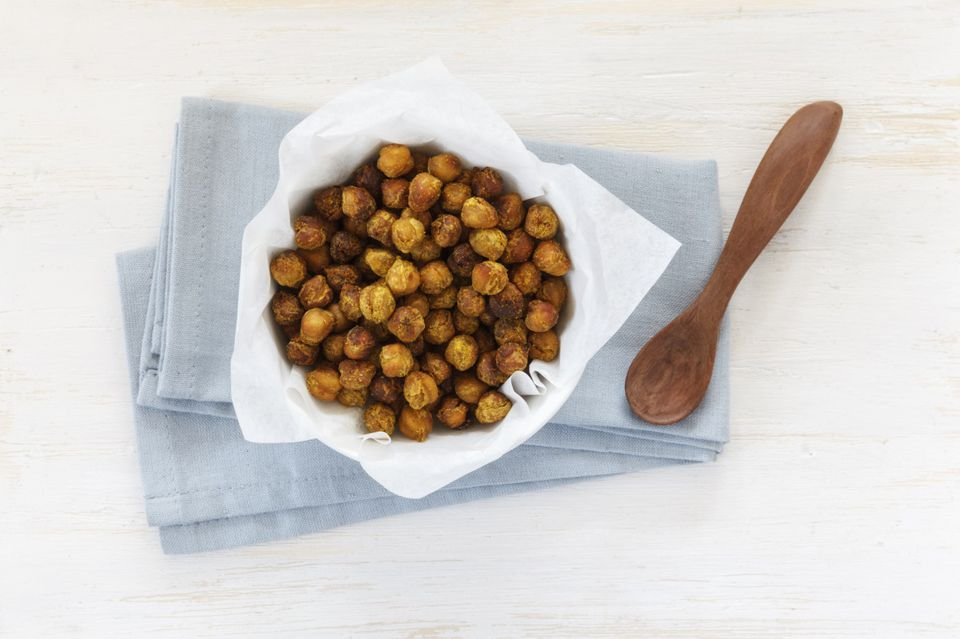 Roasted Chickpeas with Garlic