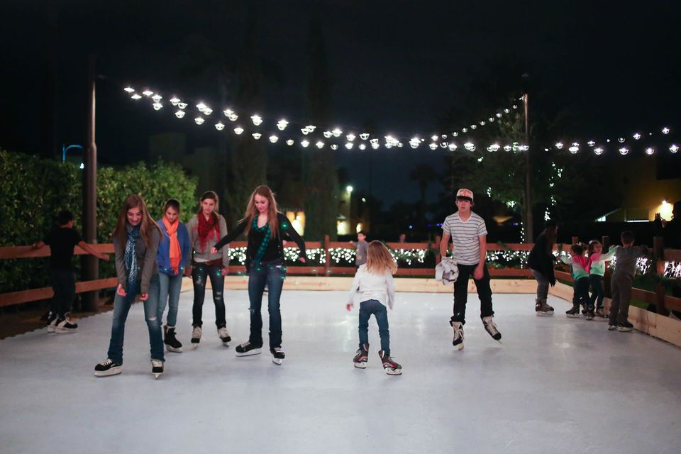 Ice skating at the Wigwam