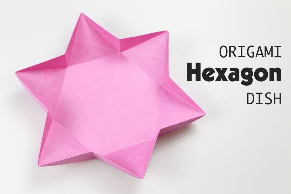 Origami Hexagonal Dish