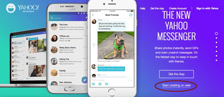 Yahoo! Messenger can be used in your browser