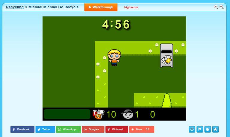 Screenshot of the Michael Michael Go Recycle game