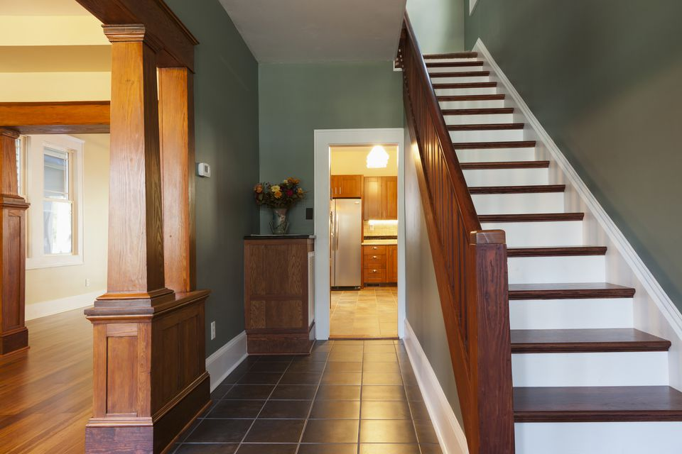 Stairs and corridor in new house