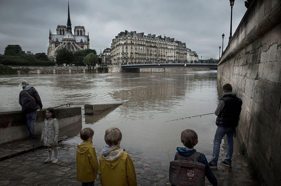 Heavy Rain Flooded Parts Of Paris
