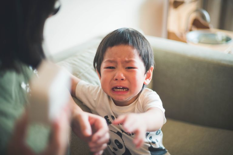 It's common for young kids to spit when they're angry.