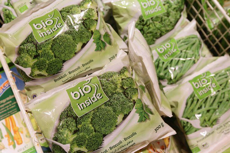 A bag of frozen vegetables.