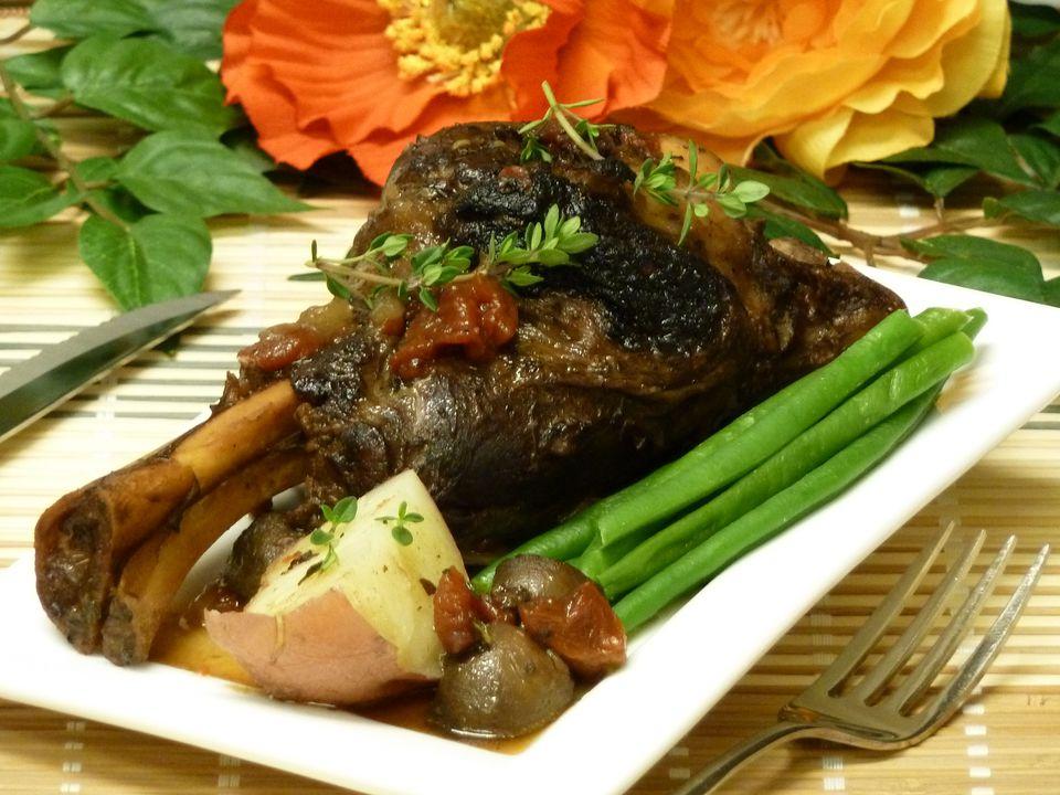 image, photo, lamb recipes, crockpot, mushrooms, garlic, wine, slow cooker, receipts