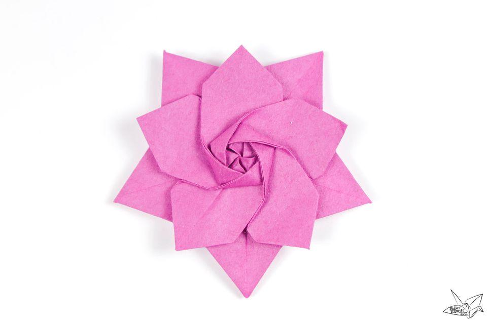 Origami Sakura Star