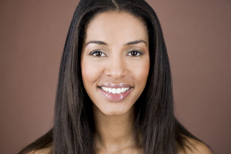 black woman with relaxed hair