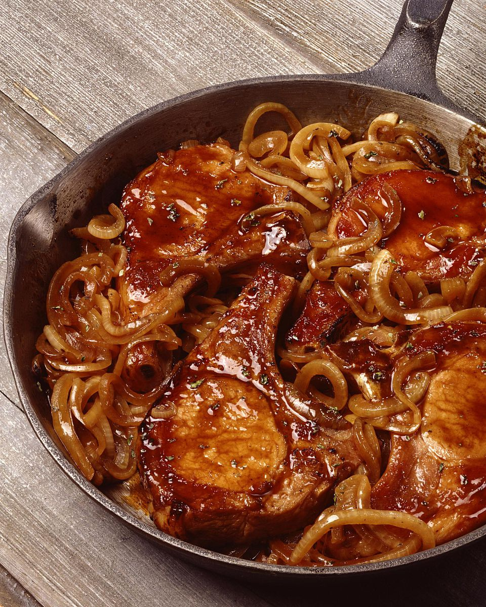 Caramelized Onion Smothered Pork Chops