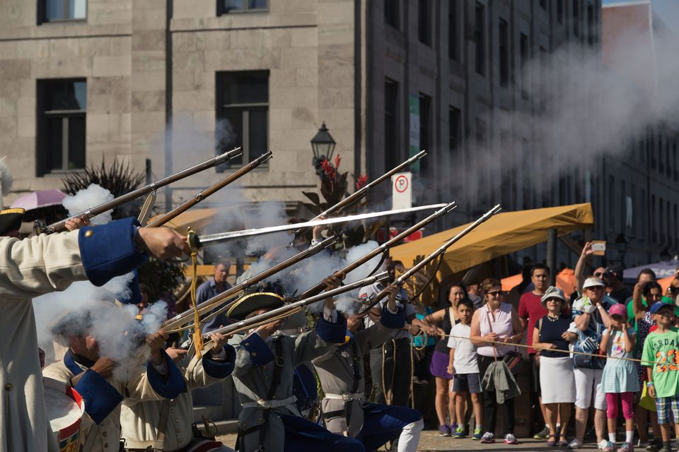 Montreal's 18th Century Market reenacts what it was like to live in the past.