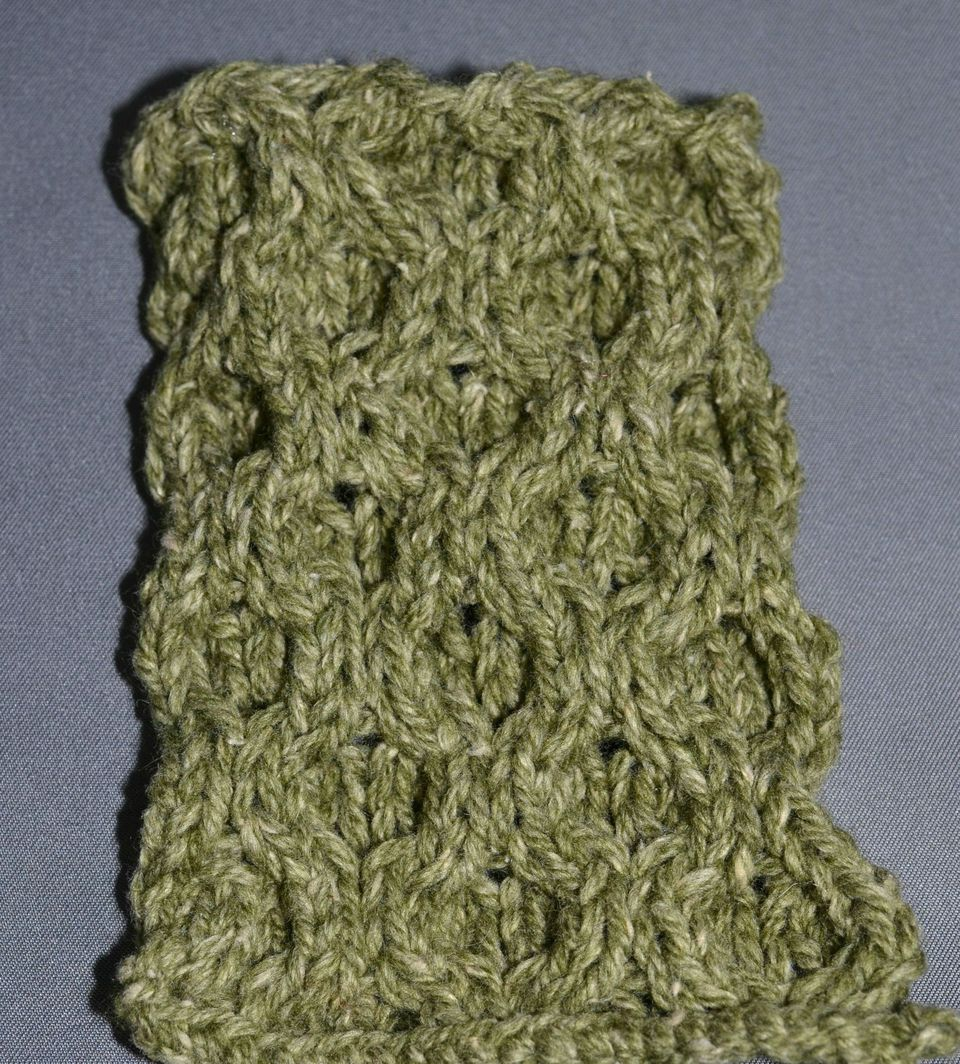 Aran honeycomb is a pattern that might be found on Aran sweaters.