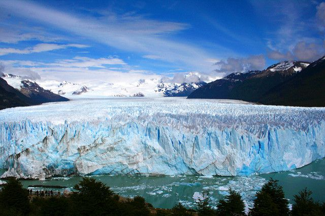 Front view of the Perito Moreno glacier, Patagonia, Argentina