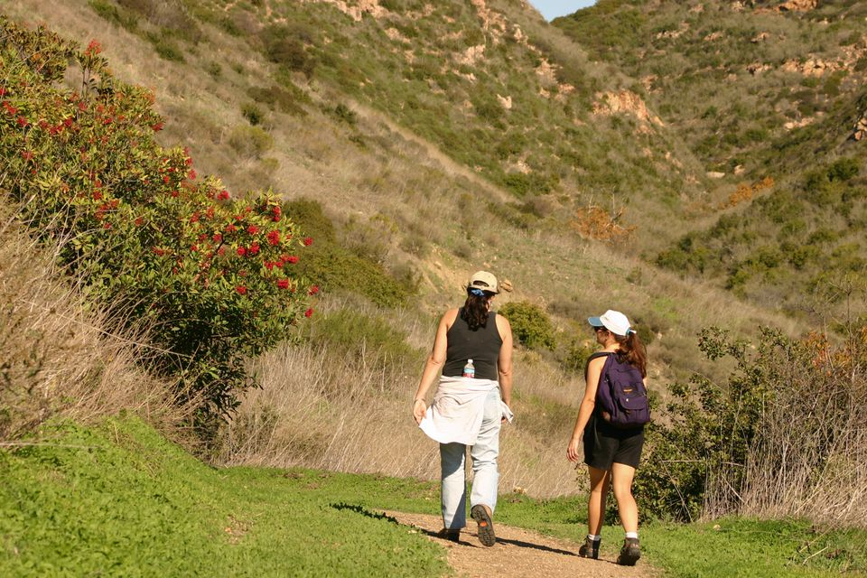 Hiking El Moro Canyon Trail at Crystal Cove State Park in Orange County
