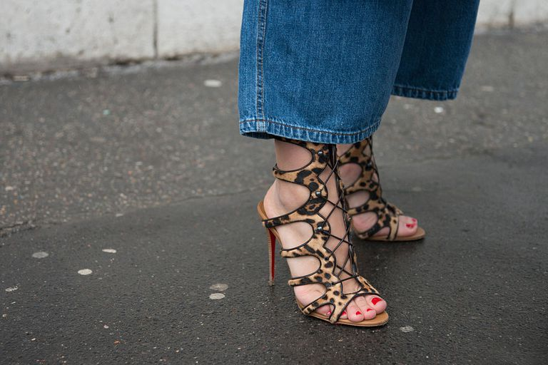 sandals and jeans