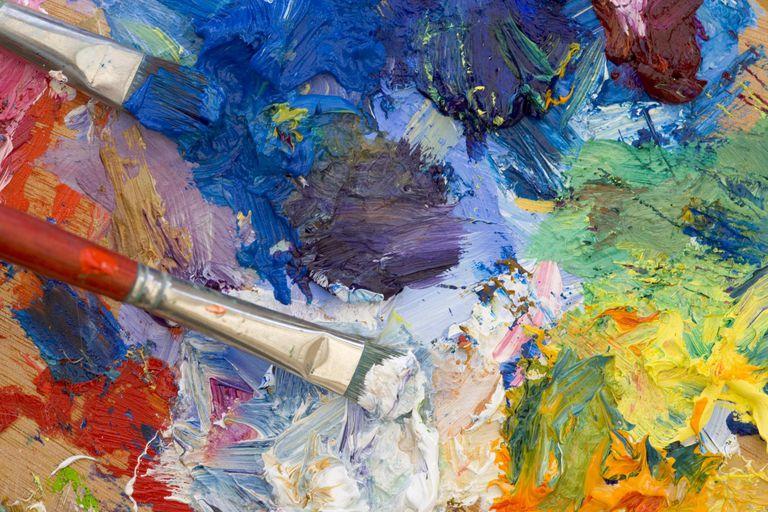 Artist's oil painting palette